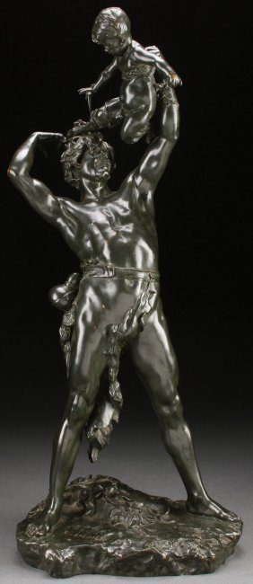 Large French Bronze Signed Steiner