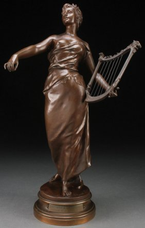 Large French Bronze By Debut