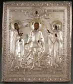 RUSSIAN ICON SILVER OKALD DATED 1812
