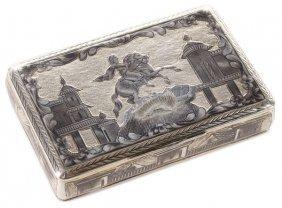 Russian Silver & Nielloed Snuff Box, 1829