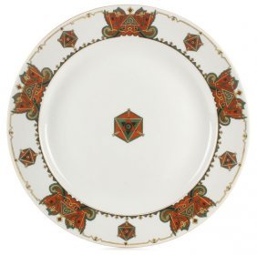 Large Russian Porcelain Charger, Kornilov