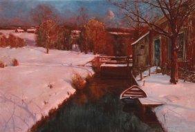 Svend Svendsen Oil Painting