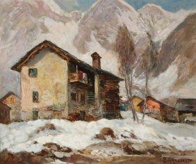 Luigi Bracchi Alpine Scene