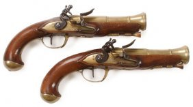 Pair Of French Napoleonic Blunderbuss Pistols