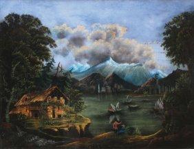 A NaÏve American Folkart Epic Landscape