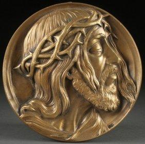 Cast Bronze Plaque Of Christ