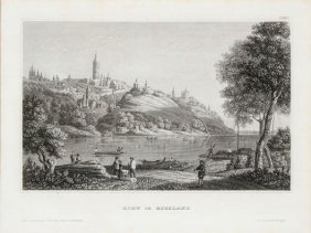 Engravings Depicting Russian Cityscapes, 19th C