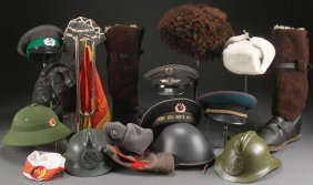 Over 60 Russian & Other Military Headgear + More