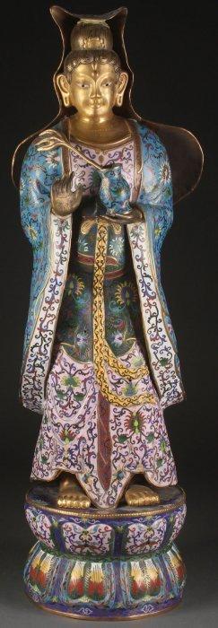 Palace Sized Chinese Cloisonne Enameled Bronze