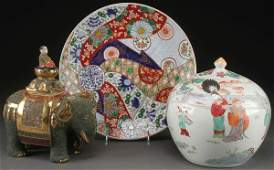3 PC GROUP OF CHINESE & JAPANESE CERAMICS