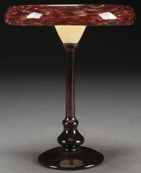 A Scarce Schneider French Art Glass Coupe