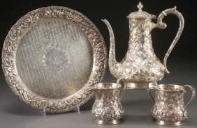 A Four Piece Sterling Silver Coffee Service