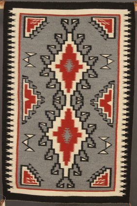 4 Southwest Native American Hand Woven Rugs
