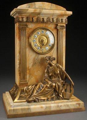 An Austrian Neo-classic Marble, Gilt Bronze Clock