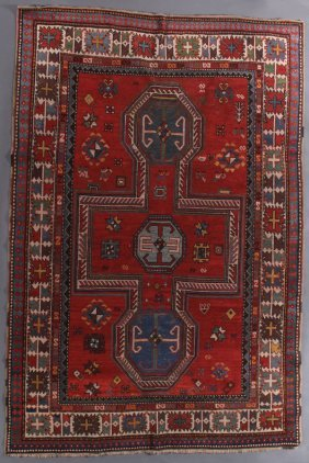 A Fine Caucasian Sewan Kazak Oriental Rug, 19th C