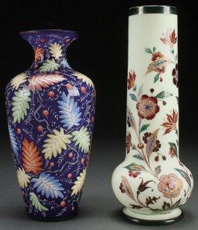 A Fine Pair Of Bohemian Art Glass Vases, Circa 19