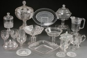 A Mostly Victorian Pressed Glass Collection.