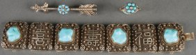 A Three Piece Group Of Victorian Jewelry.