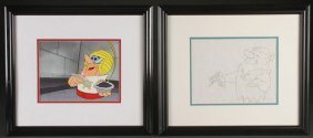 Four Original Advertising Production Cels, Late 2
