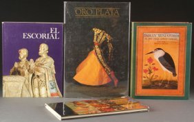 Four Spanish And Indian Decorative Art Books.