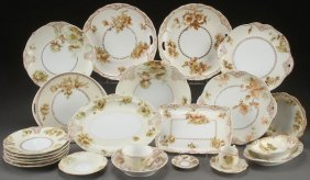 """A 23 Piece Group Of """"old Ivory"""" Silesia Porcelain"""