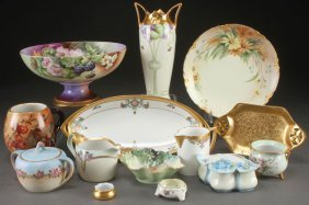 A 14 Piece Group Of Artist Decorated Porcelain