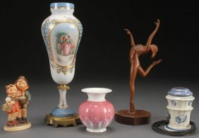 A Five Piece Group Of Porcelain And Decorative Ar