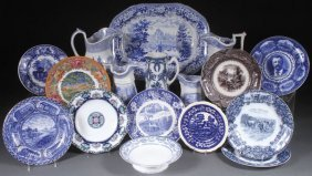 A 17 Piece Group Of Mostly English Transferware,