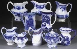 ENGLISH STAFFORDSHIRE FLOW BLUE