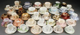A Collection Of Over 35 Porcelain Cups And Saucers