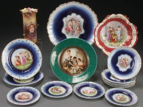 A 15 Piece Group Of Portrait And Figural Porcelain