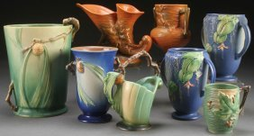 A Collection Of Roseville Art Pottery, Circa 1930