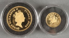 Two Gold Proof Coins.