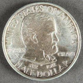 A U.s. Grant 1922-p Commemorative Silver Half Dol