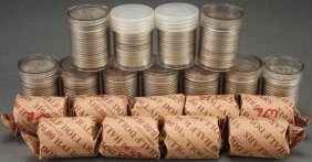 A Collection Of 20 Rolls Of U.s. Silver Walking L