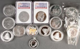 A Collection Of Fifteen Silver Proof Coins.