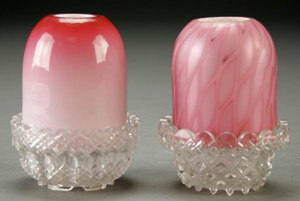 18: TWO VICTORIAN FAIRY LAMPS late 19th century, the
