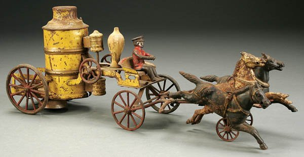833: A WILKINS HORSEDRAWN FIRE PUMPER circa 1900, with