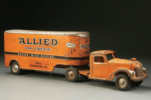 843: A BUDDY-L ALLIED VAN LINES PROMOTIONAL TOY mid 20