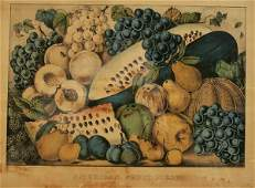 1267 CURRIER  IVES AMERICAN FRUIT PIECE mid 19th cen