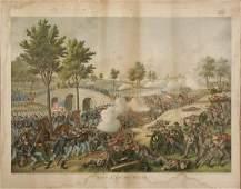 CIVIL WAR PRINT, KURZ & ALLISON COLOR LITHOGRAPH