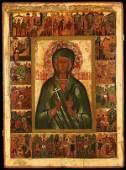 A LARGE  IMPRESSIVE  RUSSIAN ICON OF ST ANASTASISA
