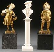 GROUP OF GILT BRONZE  IVORY SCULPTURES C 1890