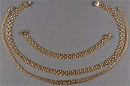 A THREE PIECE 14KT GOLD JEWELRY GROUP