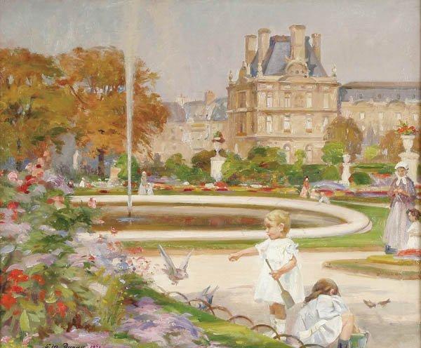 """3: PAUL MICHEL DUPUY (French 1869-1949)""""Les Jardin d"""