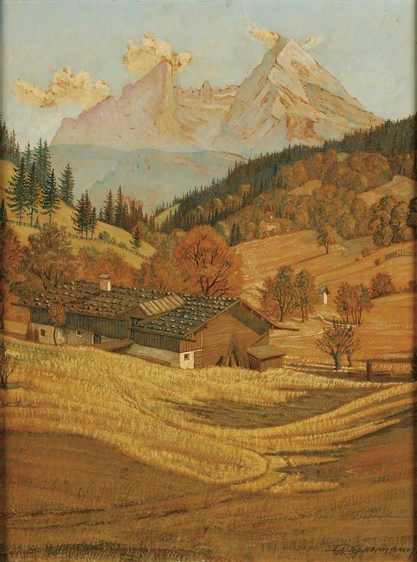 """6: WILL OPPERMANN (German b. 1889) """"Alpine Landscape"""