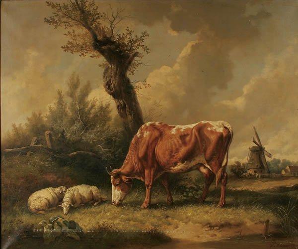 """9: WILHELM MELCHIOR (German 1817-1860) """"Pastoral Sce"""