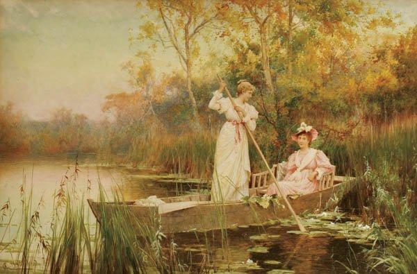 "10: ALFRED GLENDENING JR. (British 1861-1907) ""Aftern"