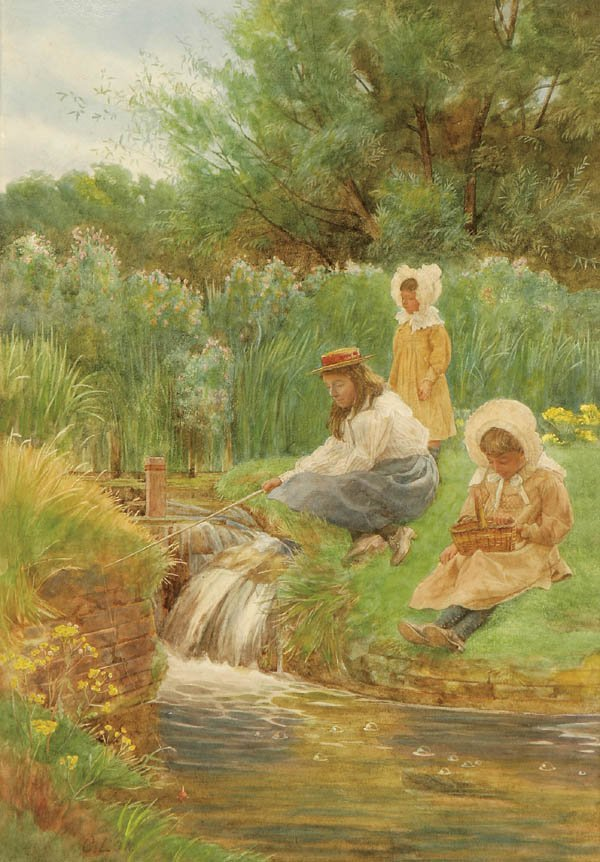 "11: CHARLES LOW (British 19th/20th century) ""Children"