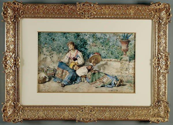 "12: GIUSEPPE RIVA (Italian 1834-1916) ""After the Fest"